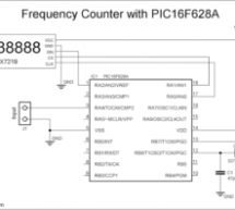 100MHz frequency counter with PIC16F628A – LED Display