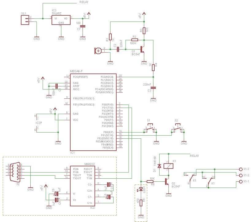 Schematic Microcontroller Clapper Switch