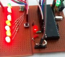 LED Blinking Sequence using PIC Microcontroller