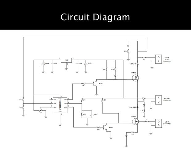 Schematic Low Cost Solar Lighting Controller