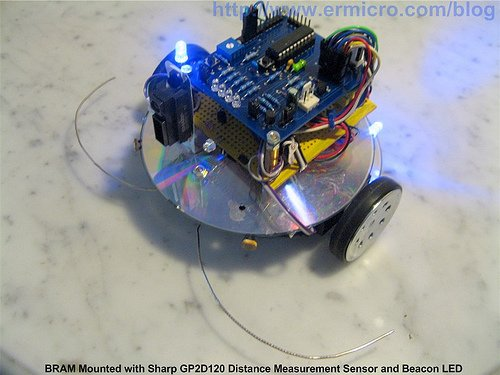 Behavior Based Artificial Intelligent Mobile Robot with Sharp GP2D120 Distance Measuring Sensor – BRAM Part 2
