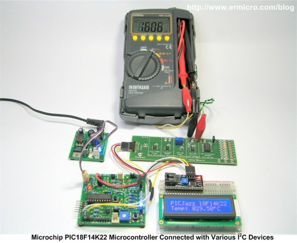 Interfacing the Microchip PIC18F Microcontroller Master Synchronous Serial Port (MSSP) to various I2C Devices