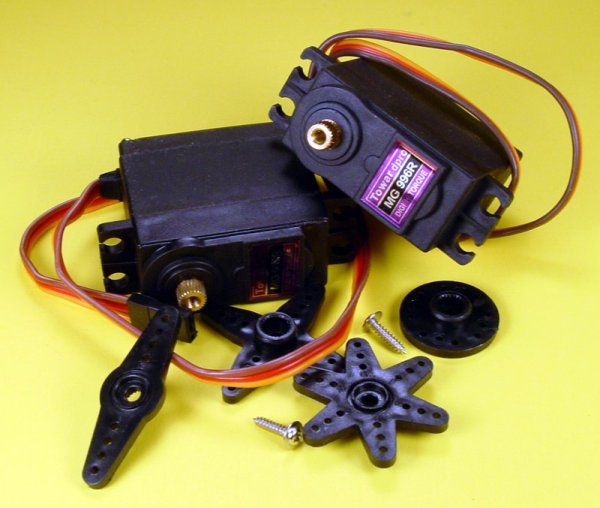 Motor Controlling a Servo with a PICAXE and an IR Sensor