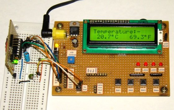 Revised version of LM35 based digital temperature meter