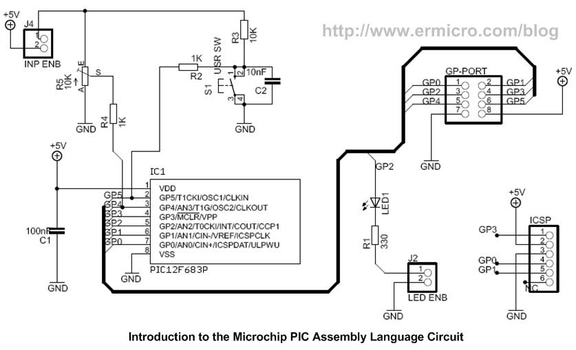 Schematic Introduction to Microchip PIC Assembler Language – Part 1