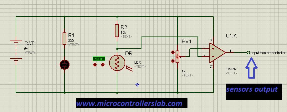 Schematic Line follower robot using microcontroller
