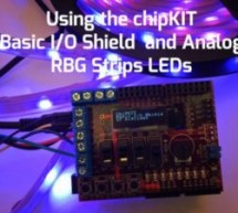 Using the ChipKIT Basic I/O Shield With Analog RGB Strip LEDs