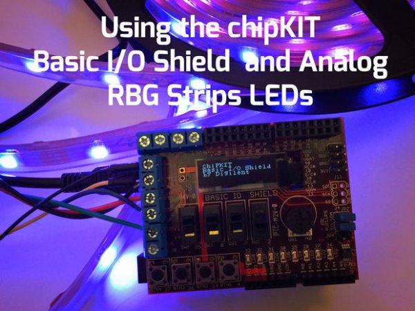 Using the ChipKIT Basic I-O Shield With Analog RGB Strip LEDs