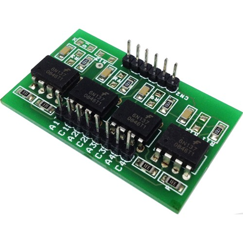 4 CHANNEL OPTO-ISOLATED MODULE USING HIGH SPEED 6N137 OPTOCOUPLER