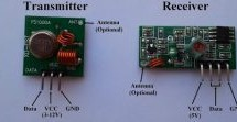 433MHz Radio Frequency (RF) transmitter and receiver using PIC12F1822