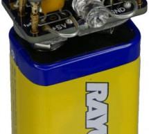 5V Power Supply Atop a 9V Battery