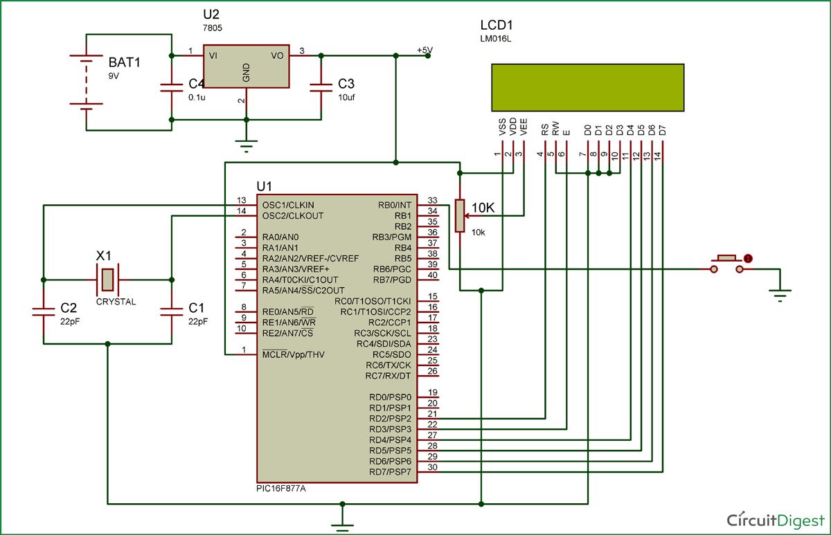 PIC16F877A-Interrupts-Circuit-Diagram
