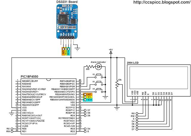 ds3231-real-time-clock-calendar-alarm-temperature-pic18f4550-circuit