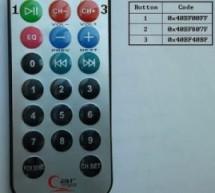 PIC12F1822 + DS3231 + Remote Control