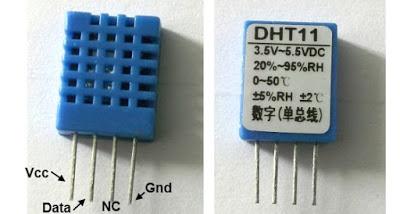 Interfacing PIC16F877A with DHT11 (RHT01) sensor Proteus simulation
