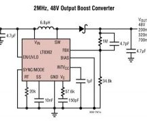 LT8362 – LOW IQ BOOST/SEPIC/INVERTING CONVERTER WITH 2A, 60V SWITCH