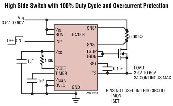 Ltc7003 Fast 60v Protected High Side Nmos Static Switch
