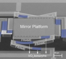 RESEARCHERS DEVELOPED VO2 BASED MEMS MIRROR ACTUATOR THAT REQUIRES VERY LOW POWER