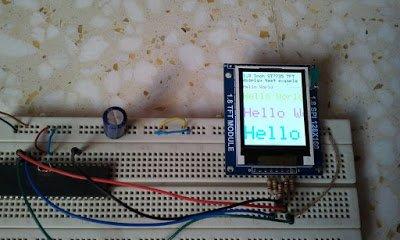 Interfacing PIC18F4550 with 1.8 TFT display