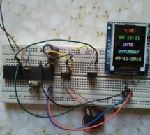Real time clock with remote control and ST7735 TFT display