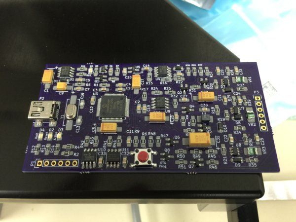 The pasted and populated board ready for reflow