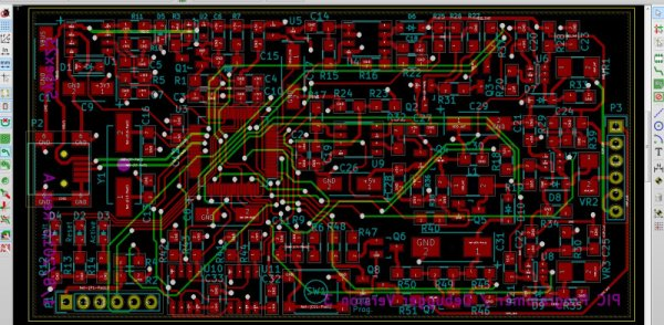 images of the project in the PCB editor