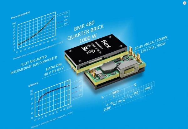 Flex Power Modules launches 1000W DC DC advanced bus converter