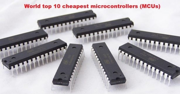 World top 10 cheapest microcontrollers (MCUs)