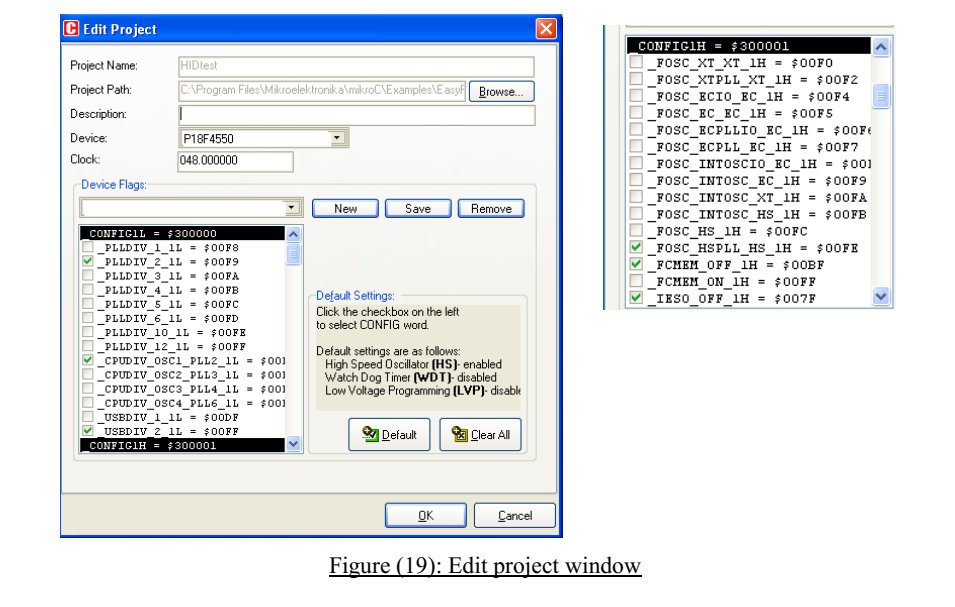 MikroC Edit Project option in order to select 48MHz clock frequency