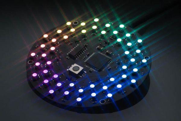 Aurora 48 - 48 RGB LED Sequencer using PIC24FV16KA304