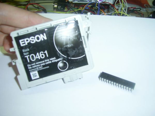 Cartridge handling using pic microcontroller
