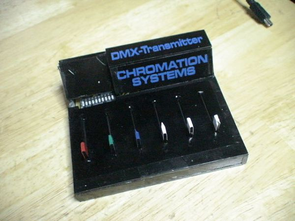 PIC18F Based 6 Channel DMX Transmitter