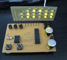 LED Binary Clock using PIC16F628A microcontroller
