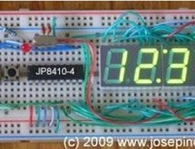 A 12hr/24hr LED Clock with display control using PIC16F628A microcontroller
