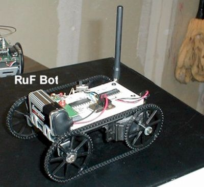 RF Modem Robotics Project using PIC16F84 microcontroller
