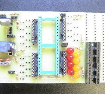 PIC development/testing board using PIC16F877 microcontroller
