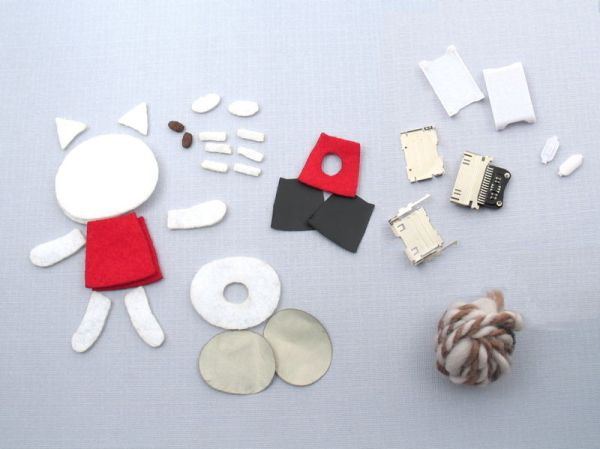 Parts sewable iPod remote