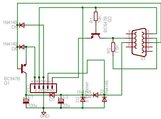 Schematic  Business Card PIC Programmer