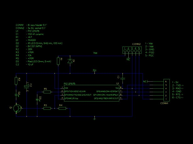 Schematic Infra-Red Transmitter