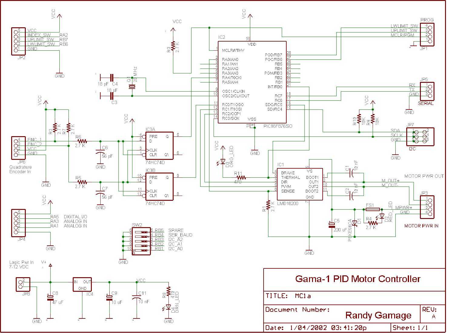 Circuit Diagram Of Microcontroller And Motor Driver Designing A Pid Controller Using Pic16f876 Overview