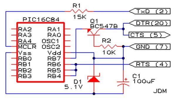 Schematic PIC Programmer