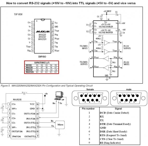 Schematic PIC serial interface