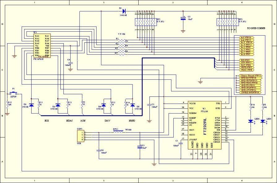 pic plot2 gpib to usb converter using pic16f628 USB to RS485 Schematic schematic usb converter