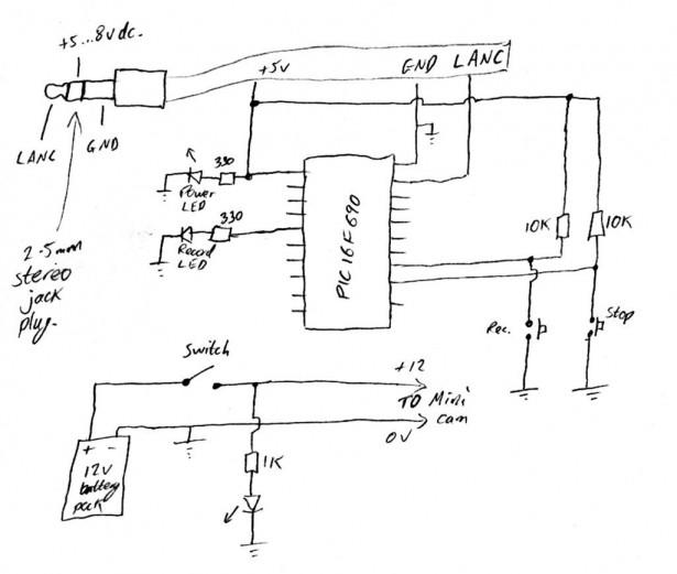 Schematic of Helmet Camera