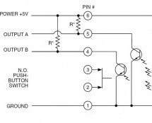 How to interpret the direction of rotation from a digital rotary switch with a PIC using PIC16F877A