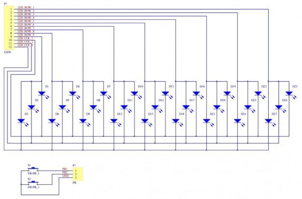 schematics Wooden LED clock