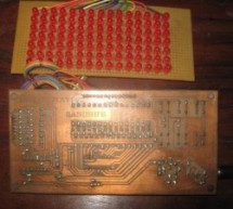 15×7 Display using a PIC16F628 Microcontroller