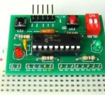 Breadboard module for 18-pin PIC16F microcontrollers (PCB version)