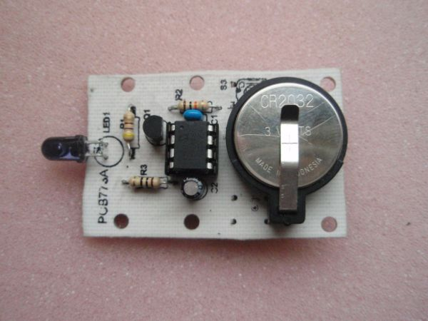 3-Switch Mini IR Remote Control  for PIC10F200