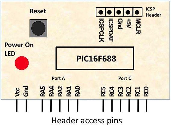 PIC16F688 Module